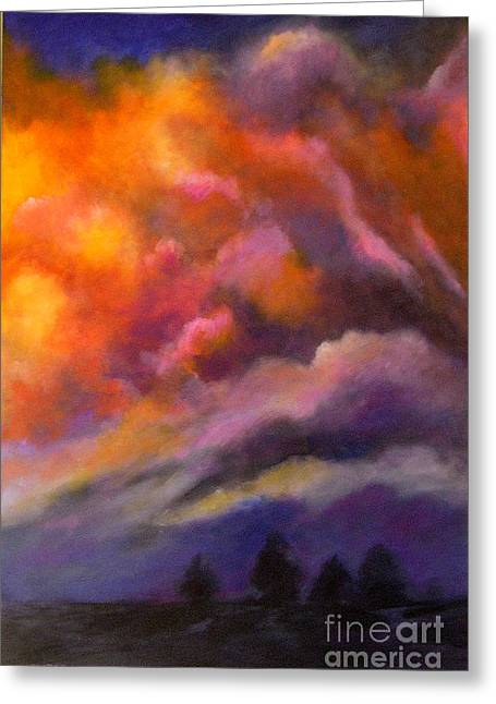 Evening Symphony Greeting Card by Alison Caltrider