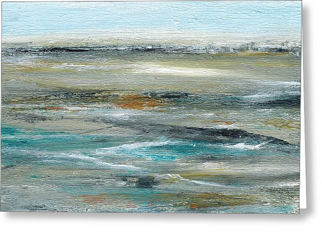 Evening Tides Greeting Card by Judy Jacobs