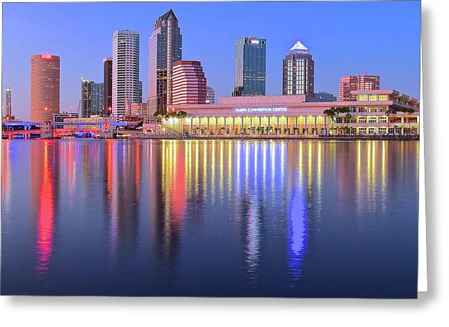 Evening Time In Tampa Greeting Card by Frozen in Time Fine Art Photography
