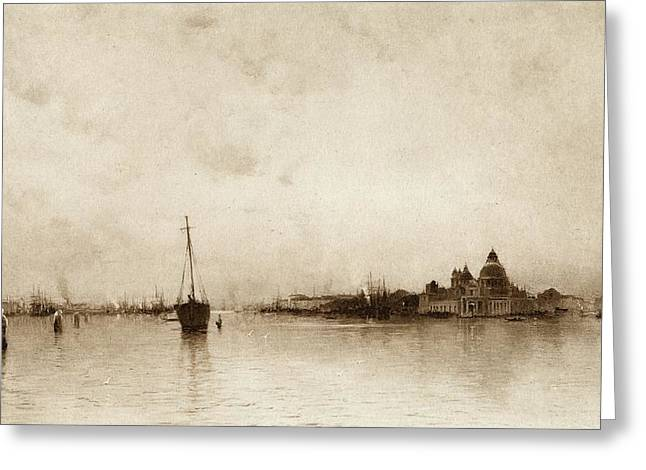 Evening,  Venice  By I Will, Pseudonym Greeting Card by Vintage Design Pics