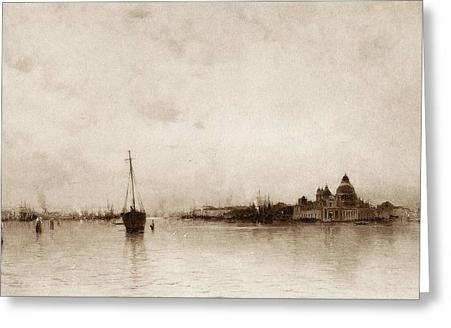 Evening   Venice Greeting Card by Marie Joseph Leon Clavel