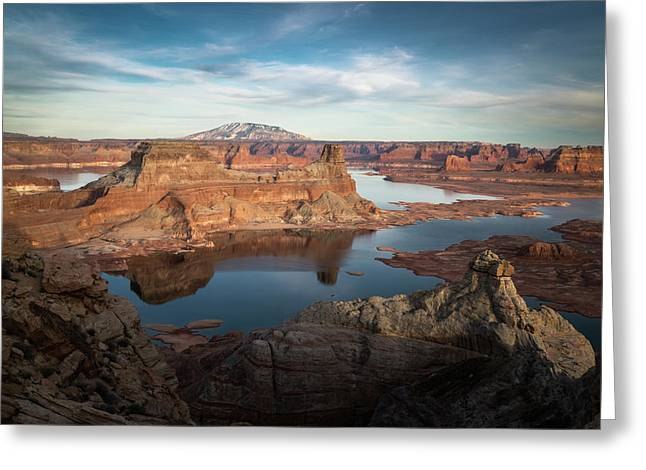 Evening View Of Lake Powell Greeting Card