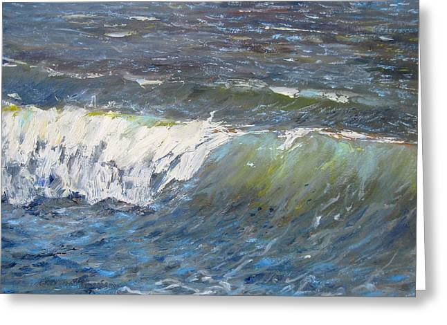 Evening Wave Greeting Card by Thomas Glass Phinnessee