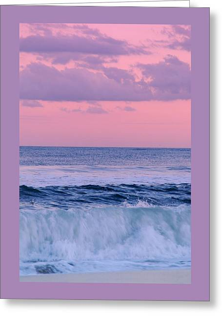Evening Waves 2 - Jersey Shore Greeting Card by Angie Tirado