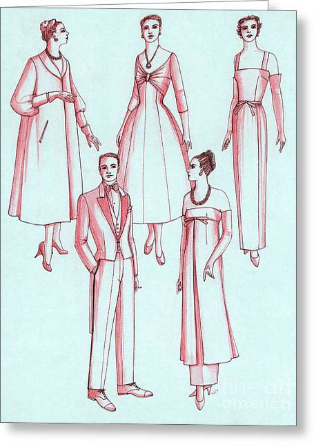 Evening Wear, 1956 Greeting Card by Science Source