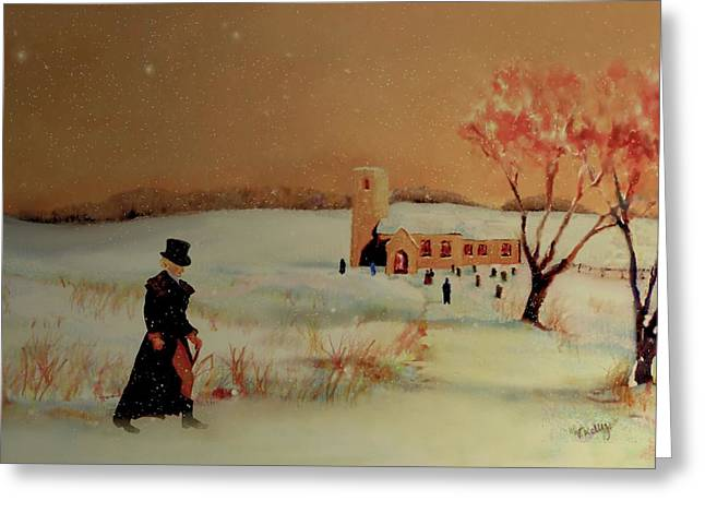 Greeting Card featuring the painting Evensong by Valerie Anne Kelly