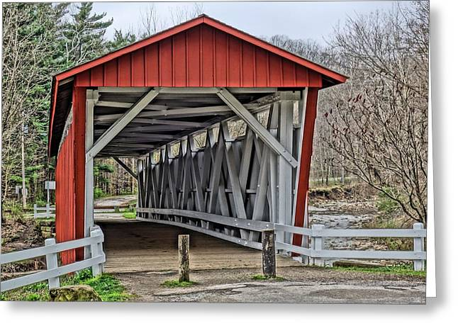 Everett Covered Bridge Greeting Card by Dan Sproul