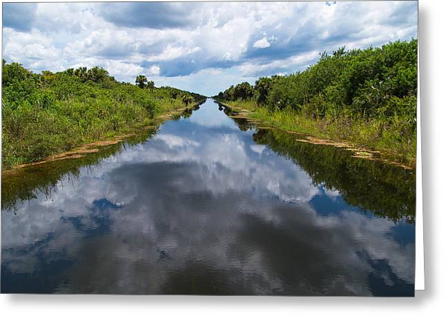 Everglades Canal Greeting Card