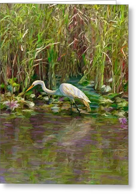 Everglades Hunter Greeting Card