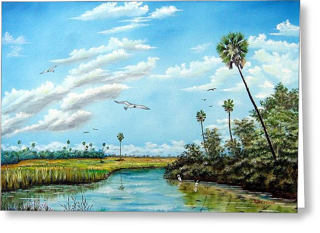 Everglades Inlet Greeting Card by Riley Geddings