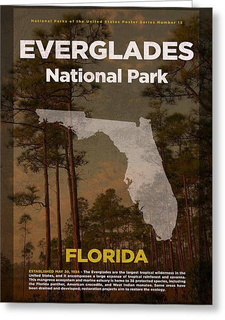 Everglades National Park In Florida Travel Poster Series Of National Parks Number 15 Greeting Card