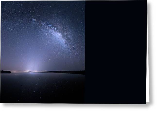 Greeting Card featuring the photograph Everglades National Park Milky Way by Mark Andrew Thomas