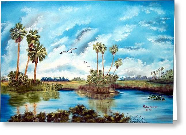 Everglades Serenity Greeting Card by Riley Geddings