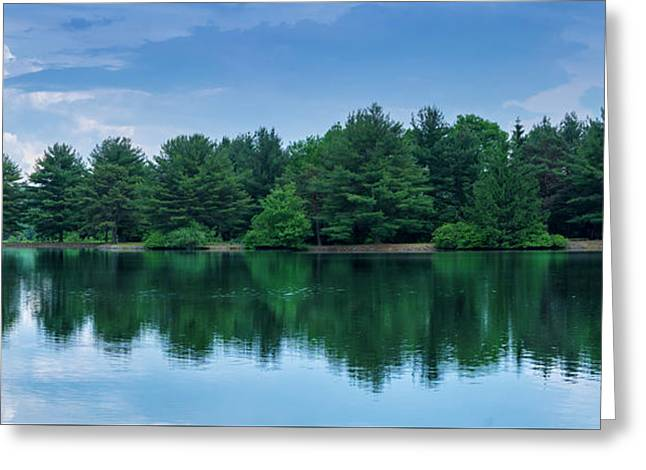 Evergreen Lake Reflections Greeting Card