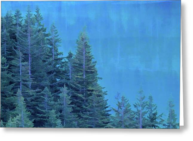 Evergreens And Reflections Greeting Card