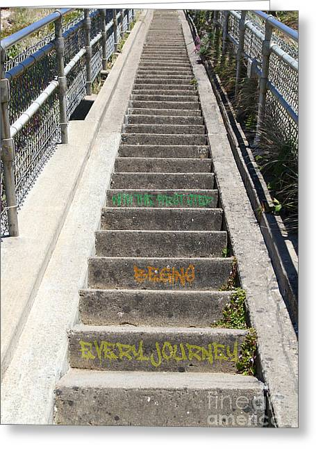 Every Journey Begins With The First Step 7d16018 20150921 Greeting Card