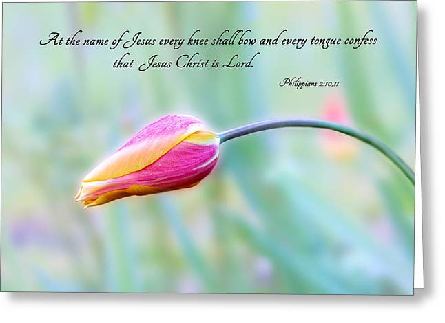 Every Knee Shall Bow Greeting Card
