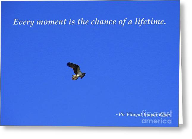 Every Moment Is The Chance Of A Lifetime Greeting Card by Agnieszka Ledwon