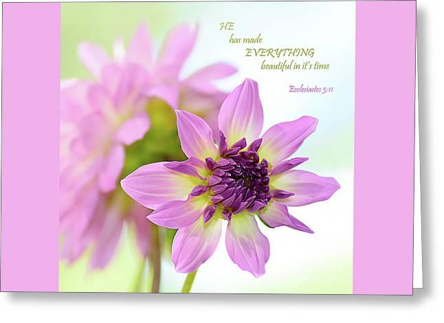 Everything Beautiful By Kaye Menner Greeting Card