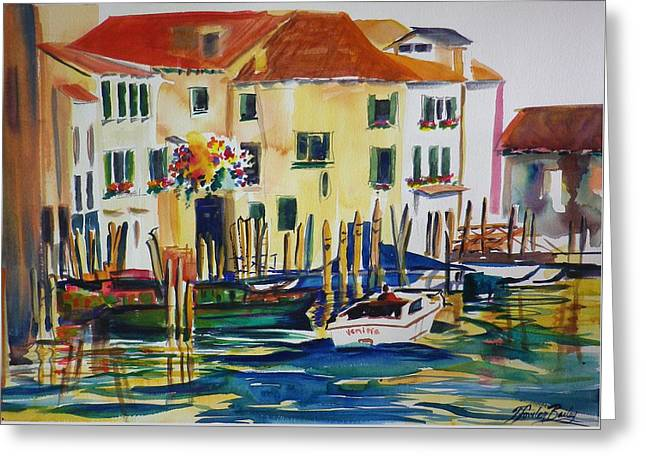 Everything Venice Greeting Card by Therese Fowler-Bailey