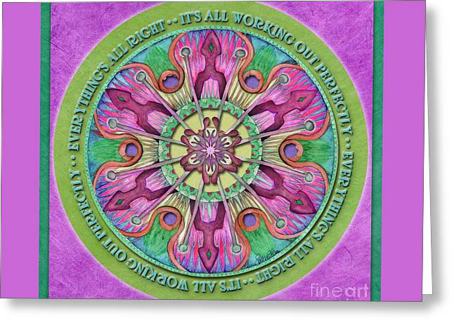 Everything's All Right Mandala Prayer Greeting Card