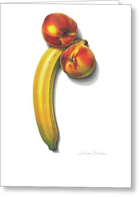 Eve's Favorite Fruit Greeting Card by Donna Basile