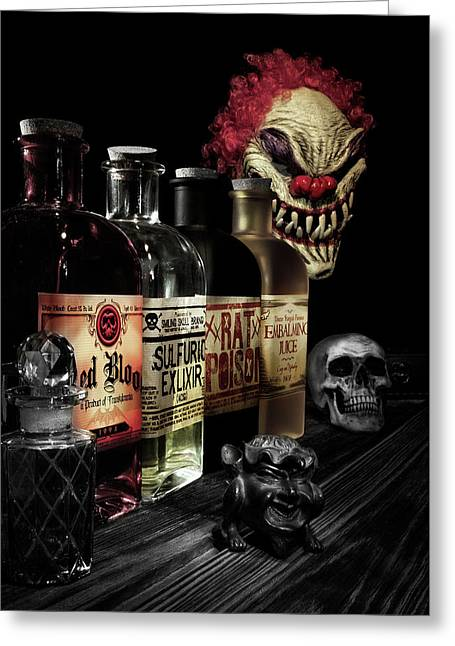 Evil Alchemy Greeting Card by Tom Mc Nemar