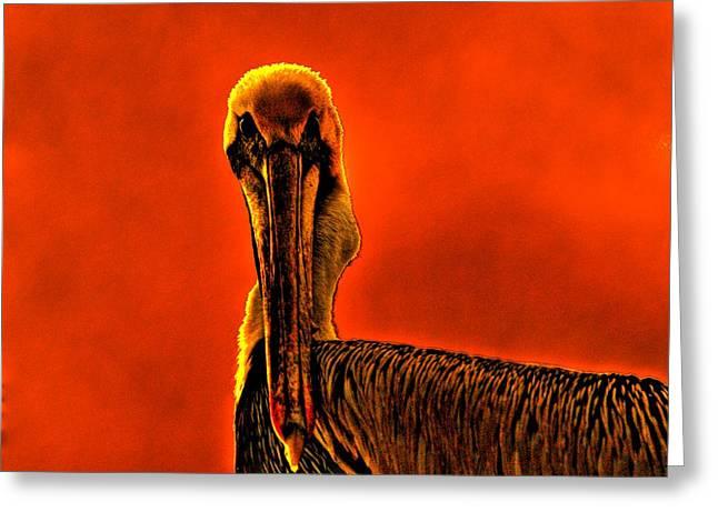 Evil Bird Greeting Card by William Jones