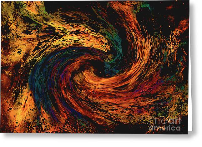 Greeting Card featuring the digital art Collision Of Evil Forces by Merton Allen