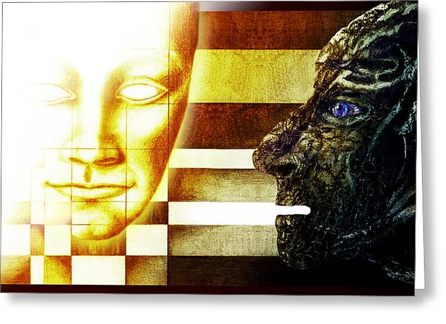 Evolution - From Darkness  To Light Greeting Card by Hartmut Jager