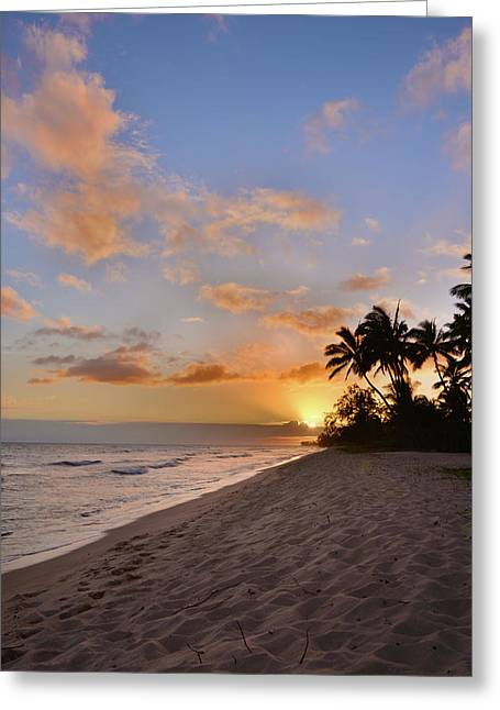 Ewa Beach Sunset 2 - Oahu Hawaii Greeting Card