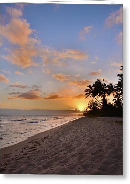 Hawaiian greeting cards fine art america ewa beach sunset 2 oahu hawaii greeting card m4hsunfo