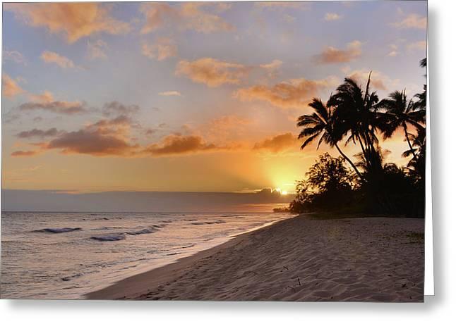 Ewa Beach Sunset - Oahu Hawaii Greeting Card by Brian Harig
