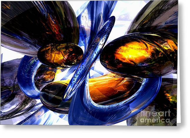 Exalted Glow Abstract Greeting Card by Alexander Butler