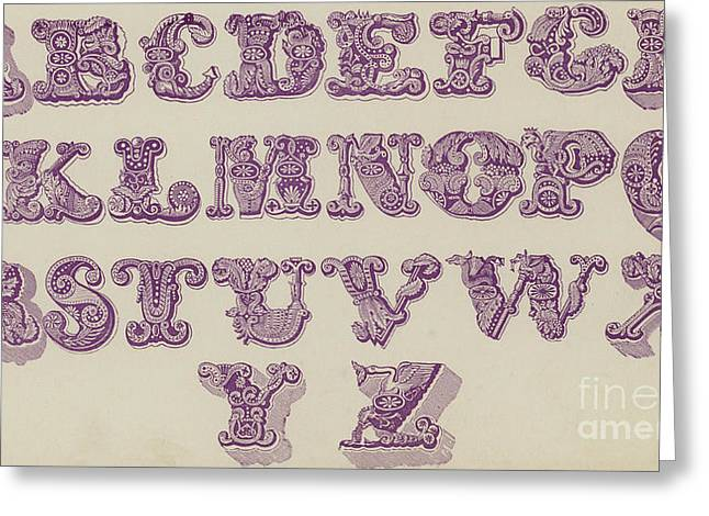 Example Alphabet  Greeting Card