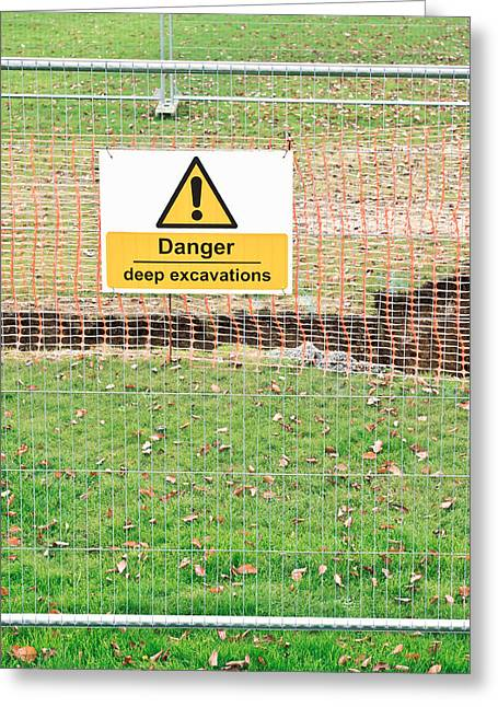 Excavation Sign Greeting Card