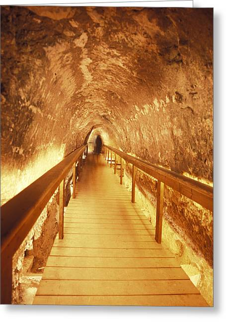 Excavations Of The Ancient Water Tunnel Greeting Card by Richard Nowitz