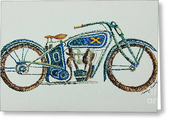 Excelsior Motorcycle Greeting Card