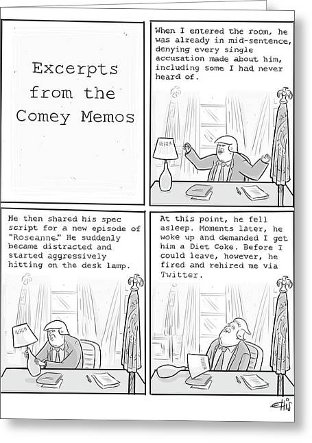 Excerpts From The Comey Memos Greeting Card