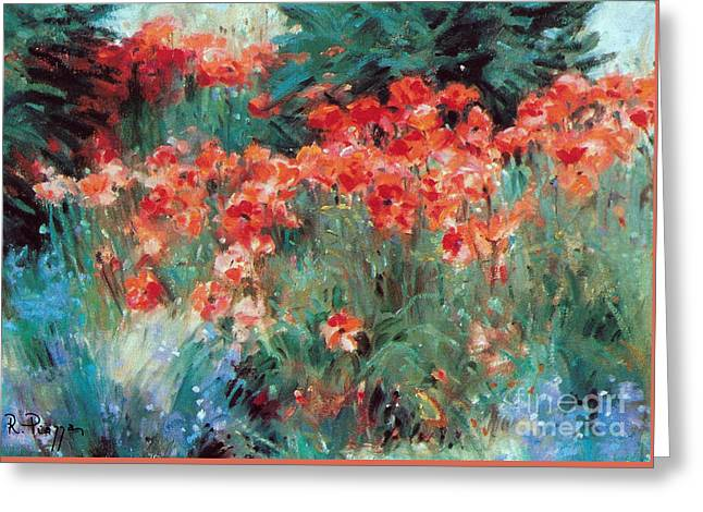 Greeting Card featuring the painting Excitment by Rosario Piazza