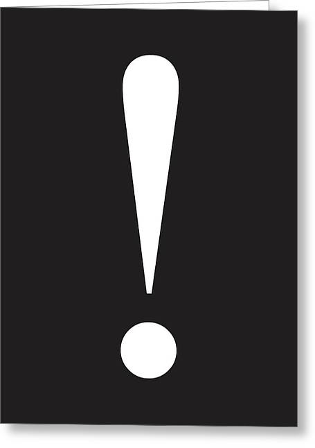 Exclamation Symbol Minimalist Poster Greeting Card