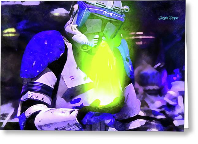 Execute Order 66 Blue Team Commander - Acrylic Style Greeting Card