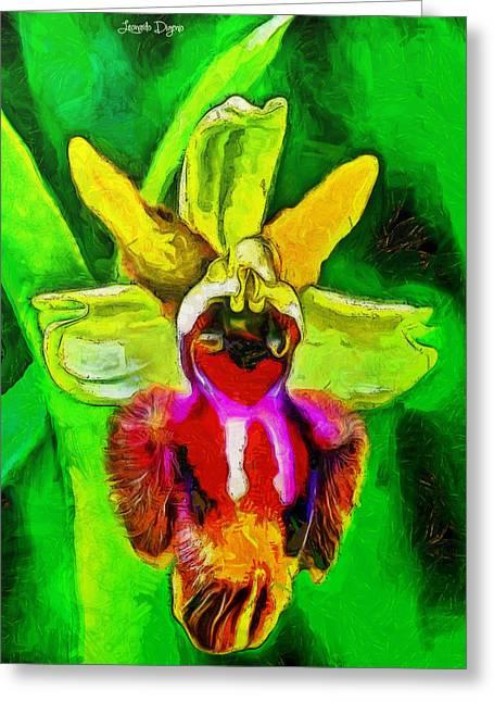 Executive Flower - Da Greeting Card