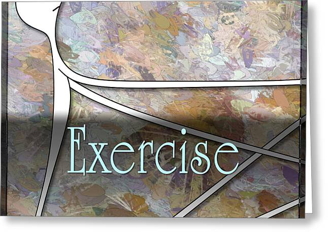 Exercise Greeting Card