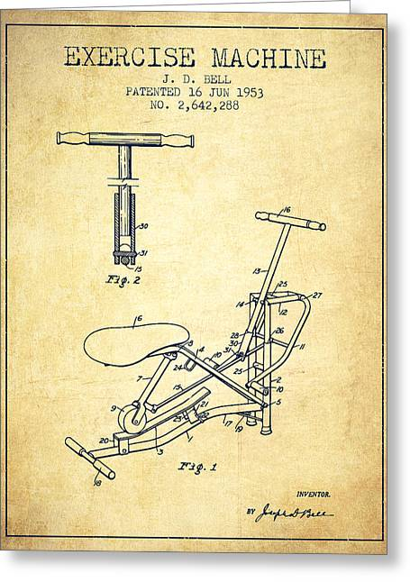 Exercise Machine Patent From 1953 - Vintage Greeting Card by Aged Pixel