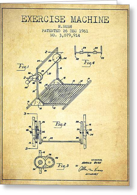 Exercise Machine Patent From 1961 - Vintage Greeting Card by Aged Pixel
