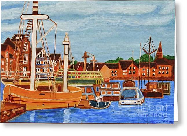 Exeter Ship Canal  Greeting Card