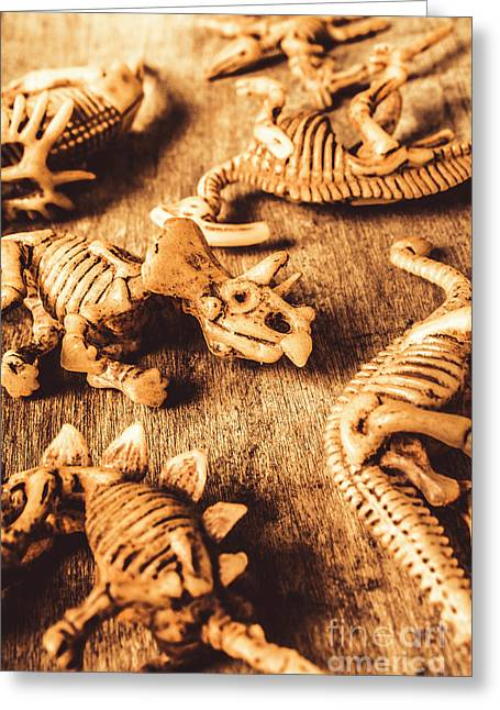 Exhibition In Prehistoric Art Greeting Card
