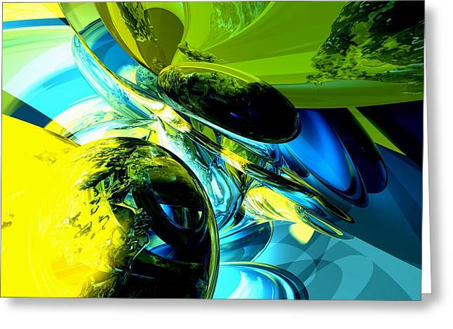 Exhilaration Abstract  Greeting Card by Alexander Butler
