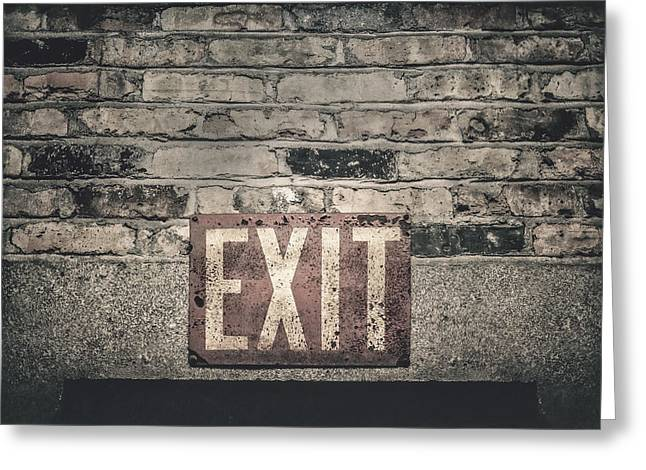 Exit Greeting Card by Scott Norris